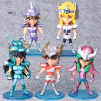 ARY 5Pcs Set Mini PVC Anime Saint Seiya Myth Action Figures Model Toy