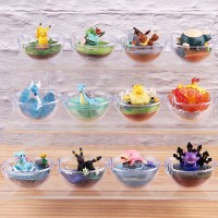 6pcs set Monsters Bulbasaur Charmander Gengar Lapras Snorlax Eevee Pi