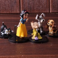 5Pcs Set wcf Action Figure Dowel Snow Snow White Dowel
