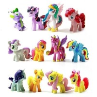 Ary 12Pcs Set Action Figure My Little Pony Bahan PVC untuk Dekorasi M