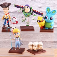 Mainan Action Figure Toy Story 4 Woody Buzz Lightyear Bahan Kayu untu