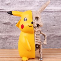 Pikuchu Figure Anime Monster Skeleton Dissection Action Figure Collec