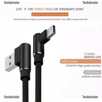 Degree Right Angle Type C/IOS/ Micro USB Fast Data Sync Charger