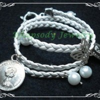 Braid Pearly Coin - White Silver (B-04 White)