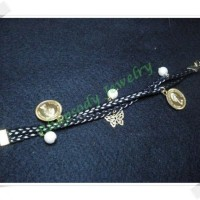 Braid Pearly Coin - Black Gold (B-05 Black)