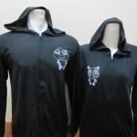 jaket panda hitam