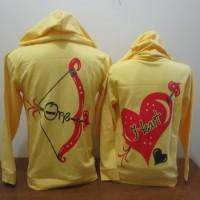 jaket tebal one heart kuning