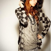 Black Fur Jacket Sweater