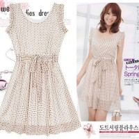 Sleveless Dotty Dress
