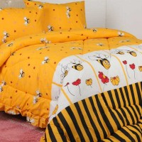motif bee kuning