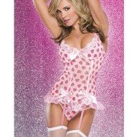 I8074 - Heart Sweet Bow Top Garter
