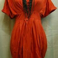 BG15 Dress 'BCL' orange bata (tdk tms kalung)
