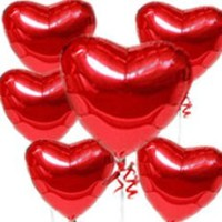 Red hearts Balloons