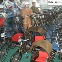 Miniatur Becak, Sepeda Ontel , Dll (Dari Logam)