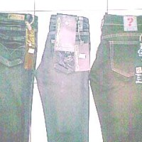 jeans wanita guess, loggo, bebe dll