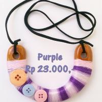 "Kalung Kayu ""Purple"""