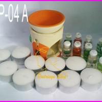 Paket Aromaterapi 4A (1 Tungku + 10 lilin + 10 EO)