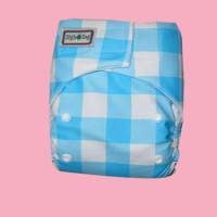 Ziggie Zag JUMBO Diaper - Blue Flanel