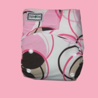 Ziggie Zag JUMBO Cloth Diaper - Pink Retro