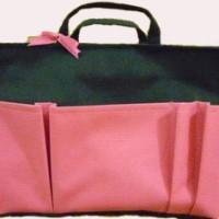 Bag Organizer Large - Hitam Pink Tua