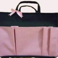 Bag Organizer Large - HItam PInk Muda