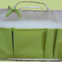 Bag Organizer Medium - Cream Hijau