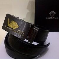 #B73, Ikat Pinggang GIANNI VERSACE Patent Leather Belt