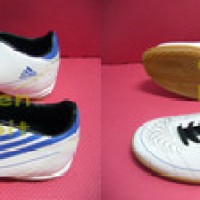 Sepatu Futsal Adidas F50 White Blue