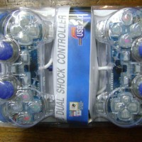Gamepad - Misc Brand - Double Shock USB Game pad (Transparent)