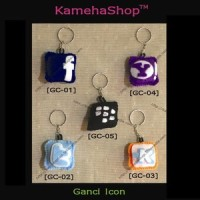 Gantungan Kunci Icon Kaskus, Apple, Blackberry, Yahoo, FB, Twitter
