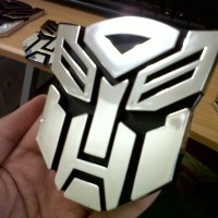 Jual Emblem Transformers Autobot Medium Murah