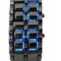 Jam LED Iron Samurai KW Super BLACK BIRU DONG