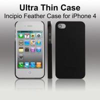 INCIPIO Feather Case for iPhone 4 with Logo - Black