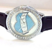 Jam Tangan Wanita Guess Love Diamond Rubber (Black)