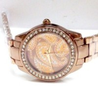 Jam Tangan Wanita Guess Paisley Chain (Bronze)