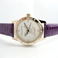 Jam Tangan Wanita Louis Vuitton Confy Leather (Purple)