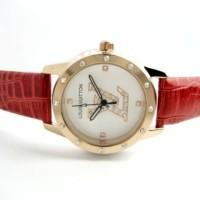 Jam Tangan Wanita Louis Vuitton Confy Leather (Red)