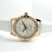 Jam Tangan Wanita Louis Vuitton Confy Leather (White)