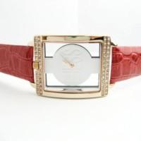 Jam Tangan Wanita Guess Times Square Leather (Red)
