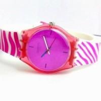 Jam Tangan Wanita Swatch Zebra (Pink)