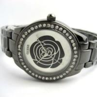 Jam Tangan Wanita Guess Rose Diamond Chain (Black)