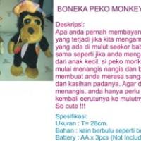 boneka monyet pegang cerutu, bisa nangis, boneka u