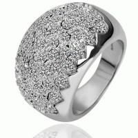Cm03 - Cincin Emas Putih Kristal Putih Cantik
