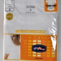 Jual Kaos Oblong GTMan Warna Putih Round-neck Murah