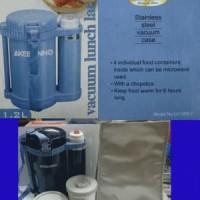 Akebonno Lunch Box With Vacuum Flask 350ml LA-1200-2, kotak makan murah