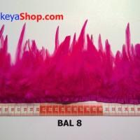 Bulu Ayam Lancip Pink azalea (BAL 8)