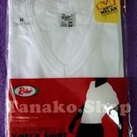 Jual Kaos Oblong Rider V-neck warna putih Murah