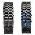 Tokyo Flash Samurai Iron + Metal Case Eksklusif(RANTAI BLACK LED BLUE )