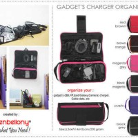 Gadget's Charger Organizer (GCO) D'renbellony : untuk mengorganizer charger dan cable gadget