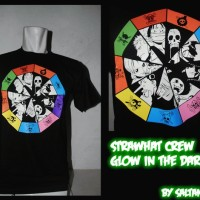 [Ready Stock]T-Shirt One Piece, Strawhat Crew Glow In The Dark